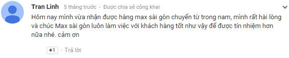 Bình luận của Tran Linh về Dịch vụ chuyển phát nhanh quốc tế Maxsaigon
