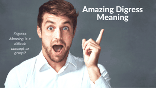 Digress Meaning