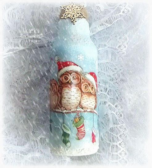 154. Butelka w zimowej szacie...