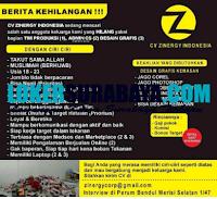 Loker Surabaya di CV. Zinergy Indonesia September 2020