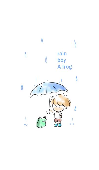 Simple rain boy A frog.