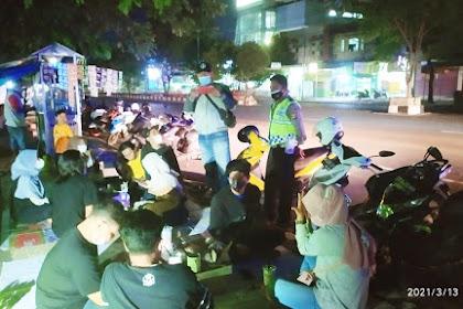 Sasar Tongkrongan Malam Minggu, Polsek Mataram Razia Protokol Kesehatan