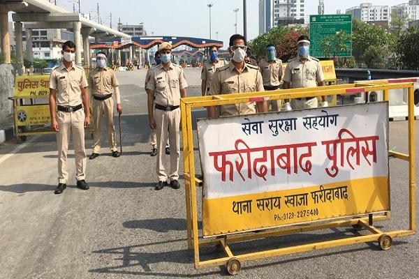 faridabad-police-alert-kisan-delhi-kooch