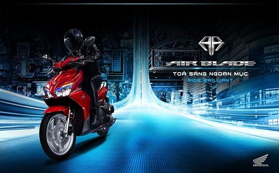 Bảng giá xe máy Honda 2016 mới nhất hiện nay