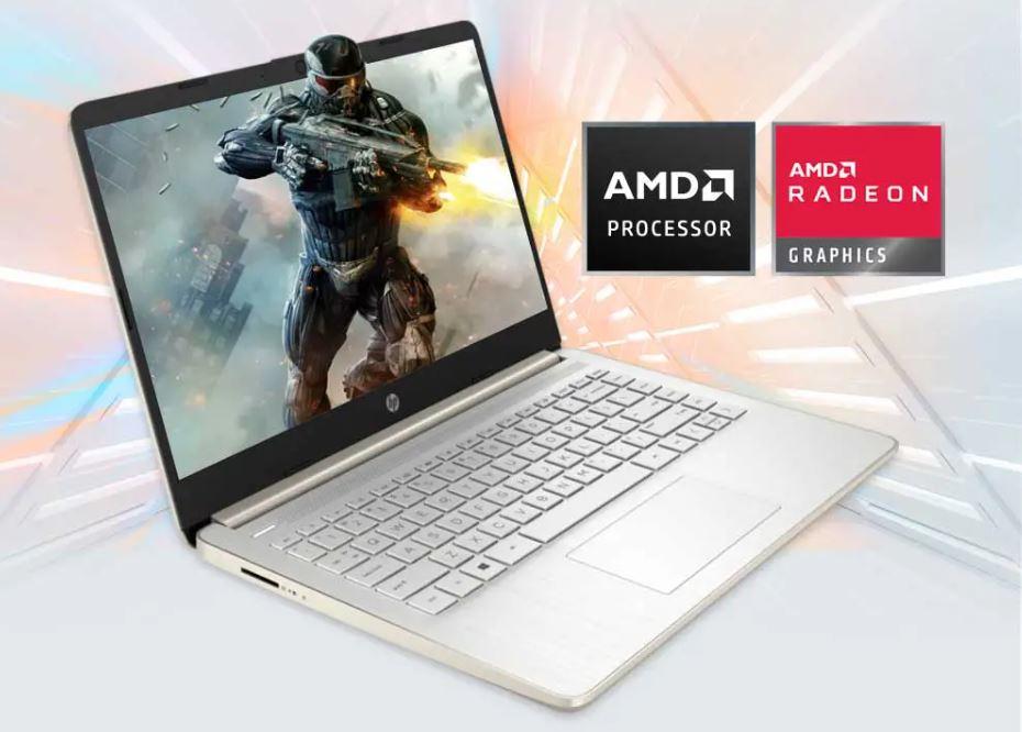 HP 14s FQ0020AU, Laptop Bertenaga Ryzen 3 3250U dengan Fitur HP Fast Charge