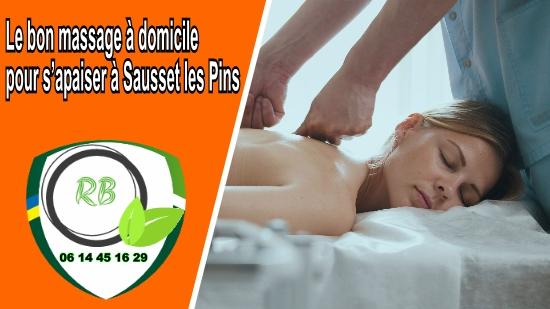 Le bon massage à domicile pour s'apaiser à Sausset les Pins;