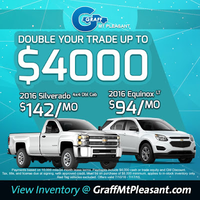 Double Your Trade Up To $4,000 at Graff Mt. Pleasant!