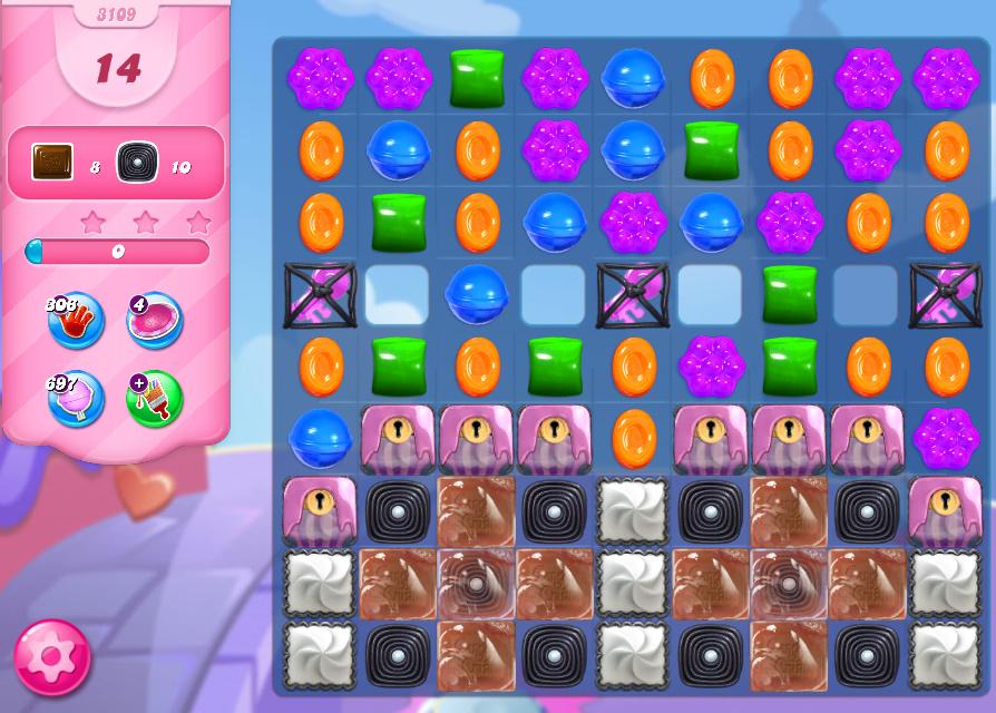 Candy Crush Saga level 3109