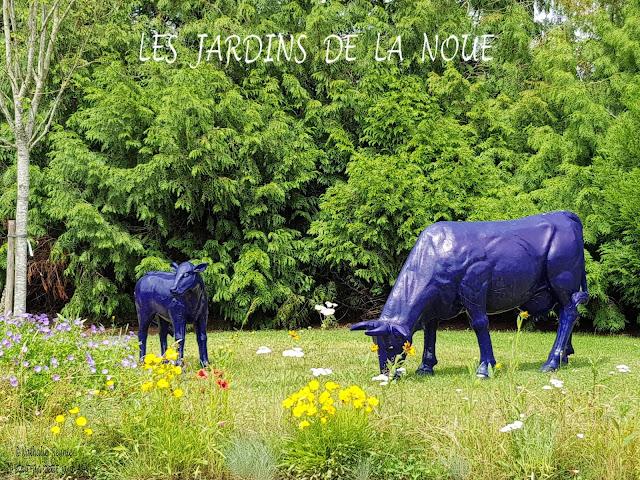 décoration vaches bleues