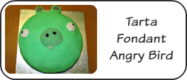 Tarta Fondant Angry Bird