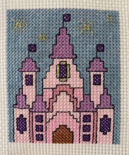 Disney castle simple small cross stitch design