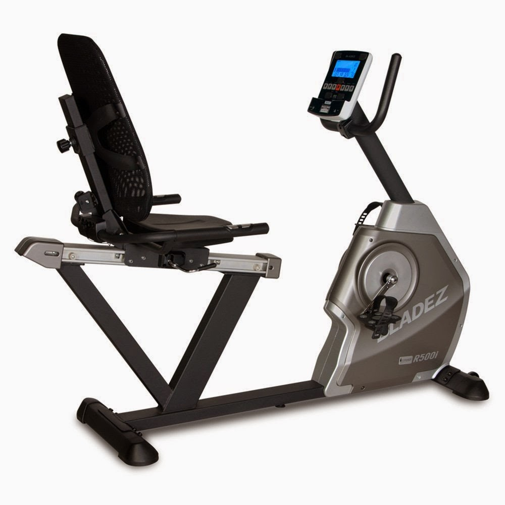 Bladez Fitness R500i Recumbent Bike, 26 workout programs plus iConcept technology for added options, 24 magnetic resistance levels