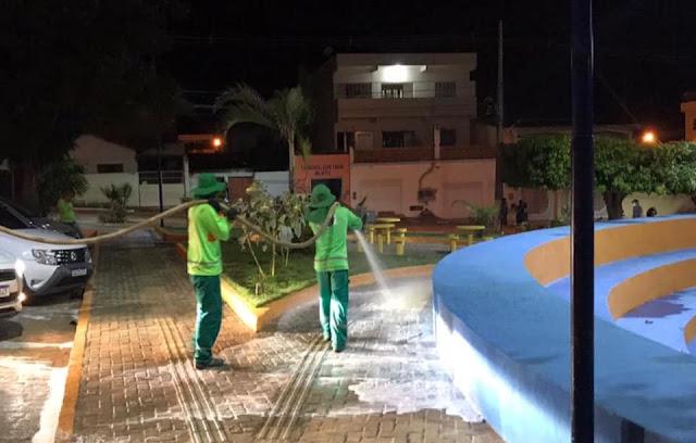 Seabra/BA: Prefeitura realiza higienização e desinfecção em locais públicos da cidade