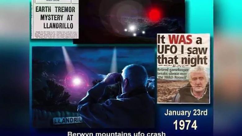 Το 1974, ένα UFO συνετρίβη στην Ουαλία,γνωστό ως και βρετανικό Roswel, μια γυναίκα είδε μικρούς άνδρες