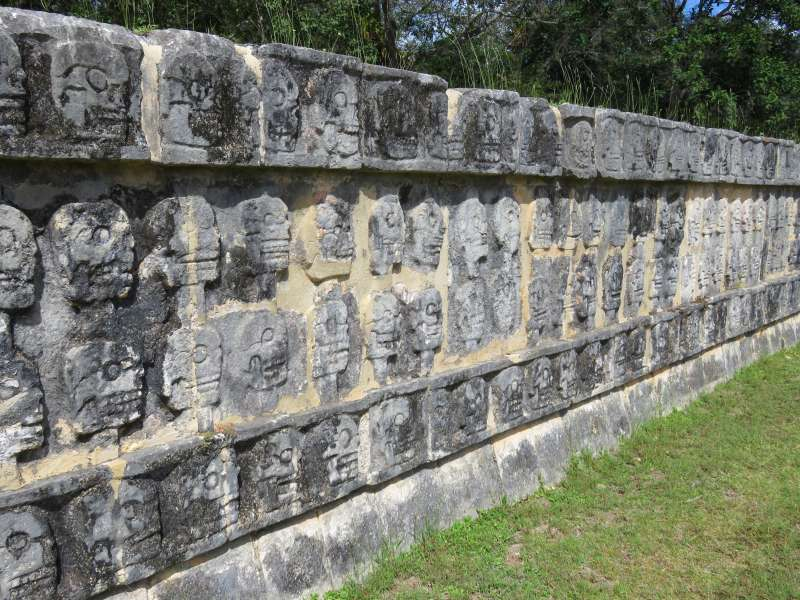 Wall of Skulls Chichen Itza