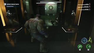 Hulk in a laboratory/warehouse