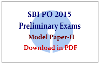 Model Question Paper-II Download in PDF