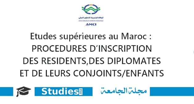 PROCÉDURES D'INSCRIPTION DES RÉSIDENTS, DES DIPLOMATES ET DE LEURS CONJOINTS/ENFANTS
