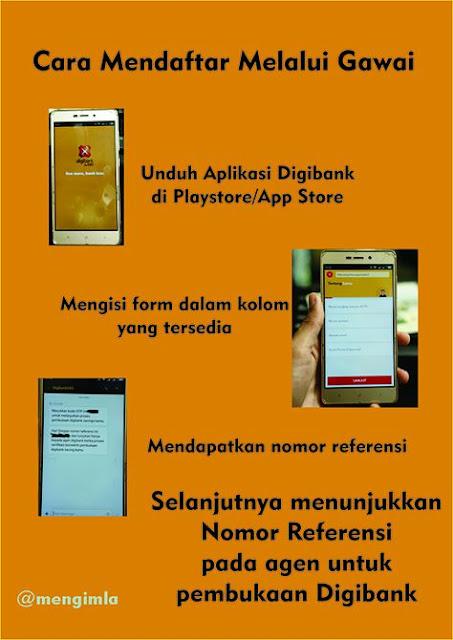 Mendaftar Digibank via gawai