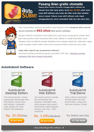 Software Pasang Iklan Gratis Autosubmit