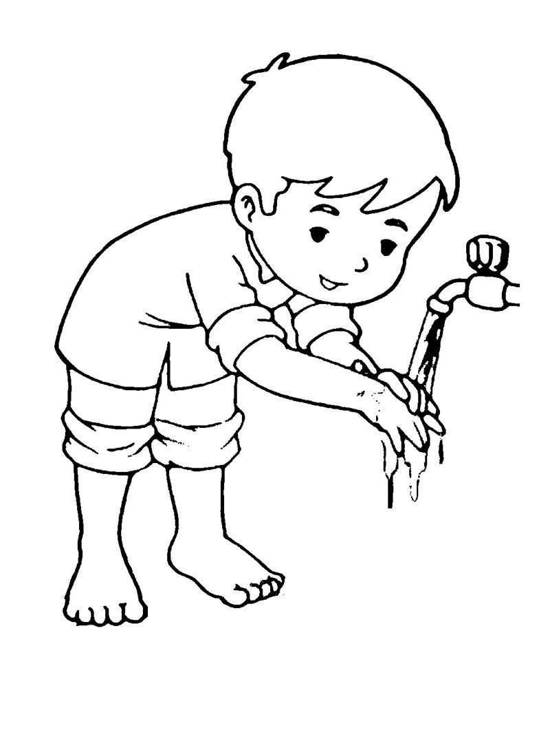 Mewarnai Gambar Mewarnai Gambar Sketsa Kartun Anak Muslim