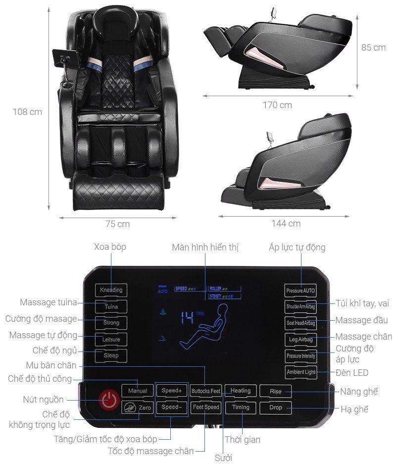 Ghế Massage Cao Cấp Airbike Sport MK280 Mishio
