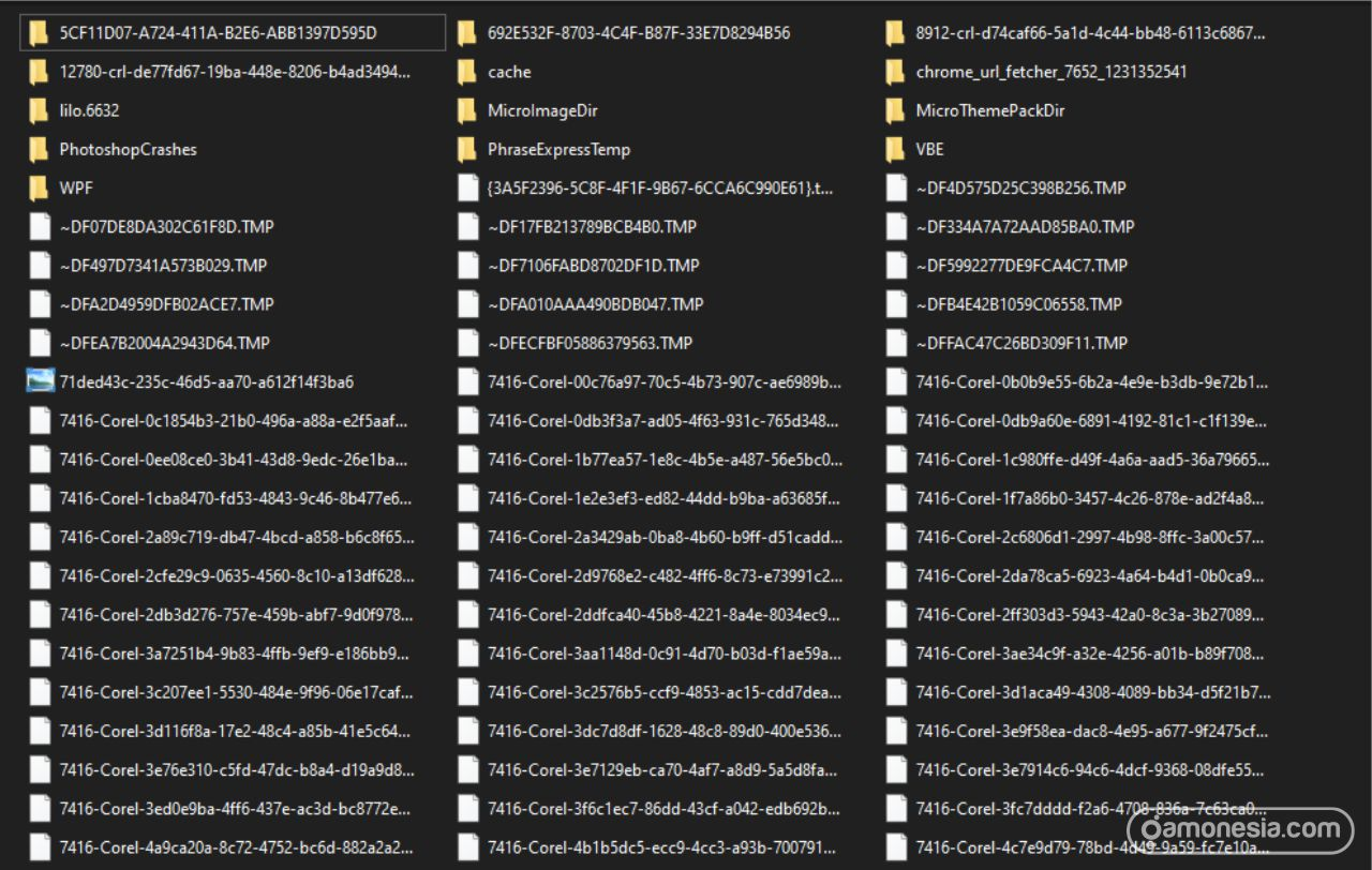 menghapus file sampah windows