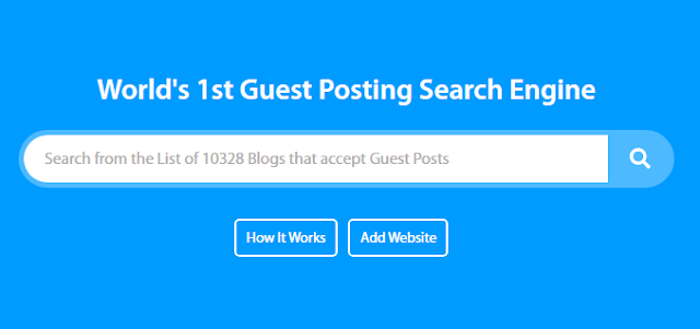 Guest Posting Search Engine Tool