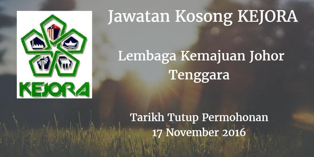Jawatan Kosong KEJORA 17 November 2016