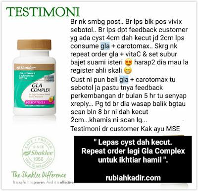 Ikhtiar hamil selepas cyst kecut