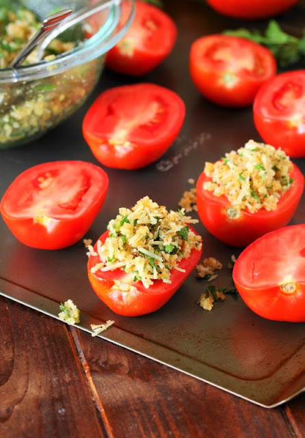 Crumb Topping on Fresh Tomatoes image
