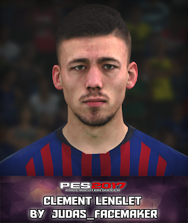 PES 2017 Faces Clement Lenglet by Judas