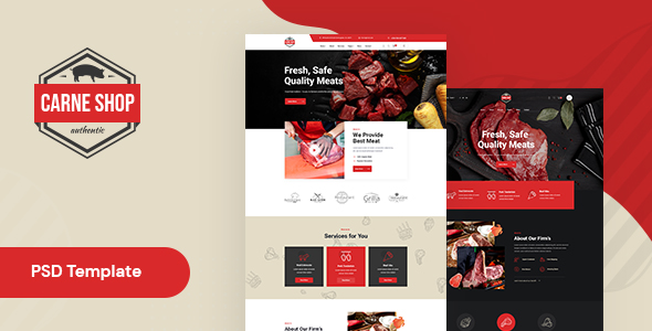 Meat Shop Website Template