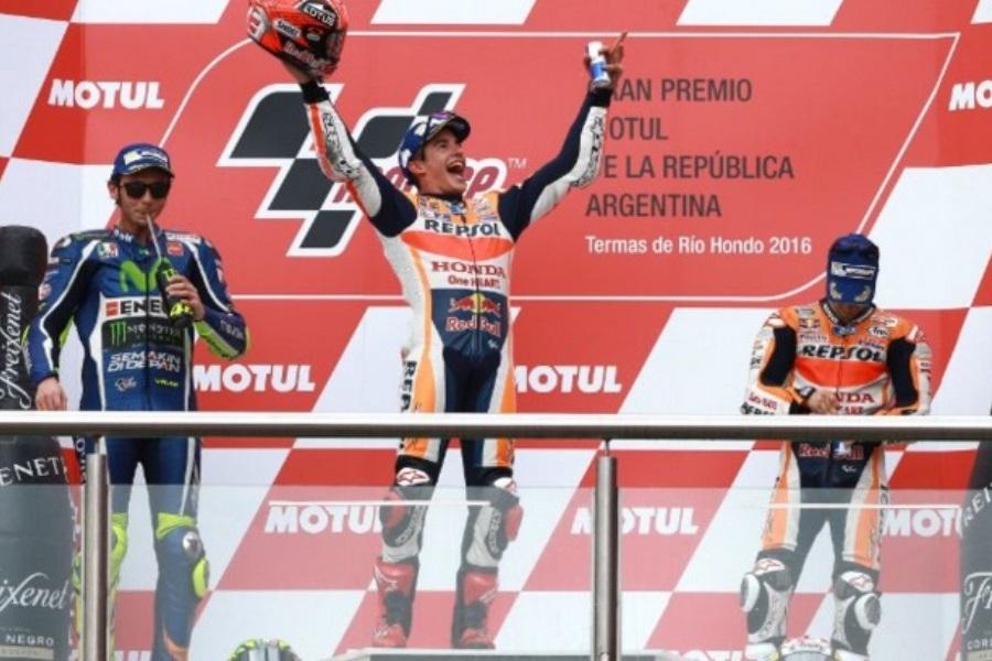 Photo Gallery MotoGP Argentina Termas de Rio Hondo 2016 Podium Race Accident