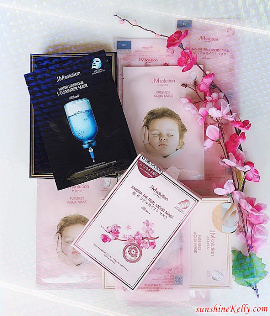 JMsolution Mask, JMsolution, Korean Mask, Luminous S.O.S Ringer Mask, Japan Sakura The Real Moist Mask, Mama Pureness Aqua Mask, Giveaway, beauty