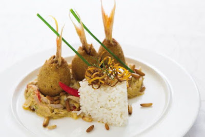 put the burghul and fish in a food processor Fish Kibbeh Tajen Recipe