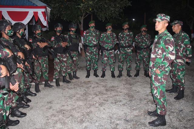 Kasdam XVII/Cenderawasih Kunjungi Pos Kotis Satgas Pamtas Yonif 125/SMB
