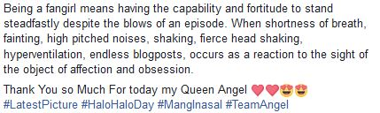Fan Girl Thanked Angel Locsin For Being the Celebrity Who's Worth-Fangirling Over