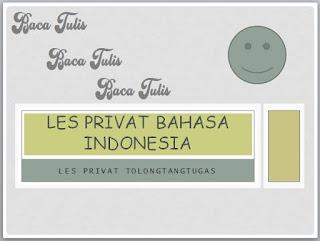 Les privat bahasa Indonesia pamekasan