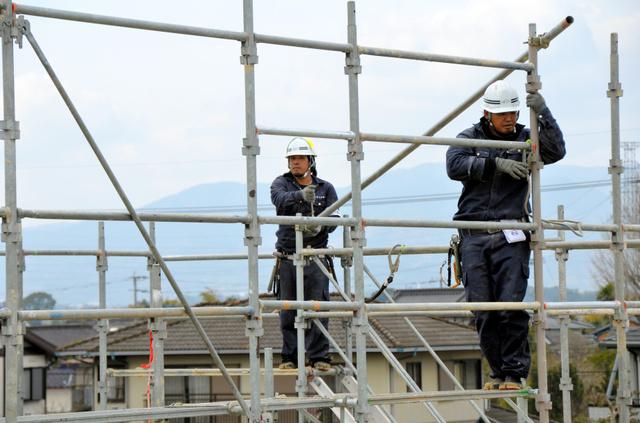 Tuyển 6 nam làm công việc giàn giáo tại Kumamoto tháng 5 năm 2019