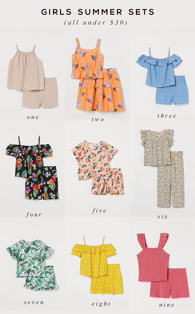 Little Girls Summer Sets
