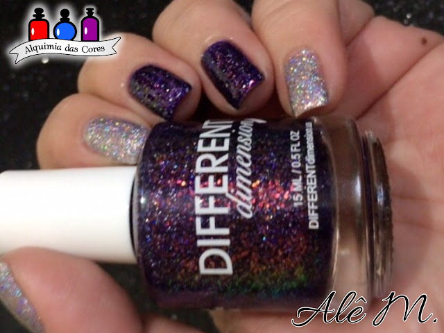 Different Dimension, Big Bang, Helix Nebula, Butterfly Nebula, Dream Impossible Dreams, Glitter, Jelly, Green, Purple, Silver, Lavender, Holografic, Alê M.