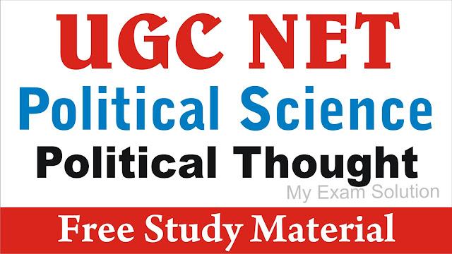 Political Thought for UGC NET ; UGC NET ; Political Thought ; Political Thought for UGC NET