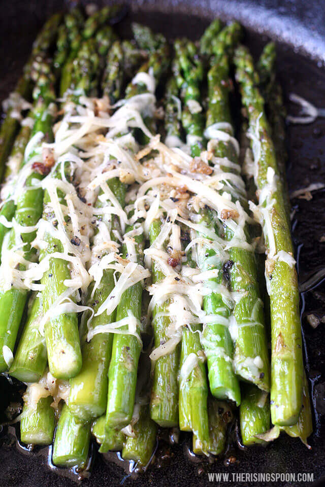 Top 10 Most Popular Recipes On The Rising Spoon in 2017: Sauteed Asparagus with Garlic, Butter & Parmesan