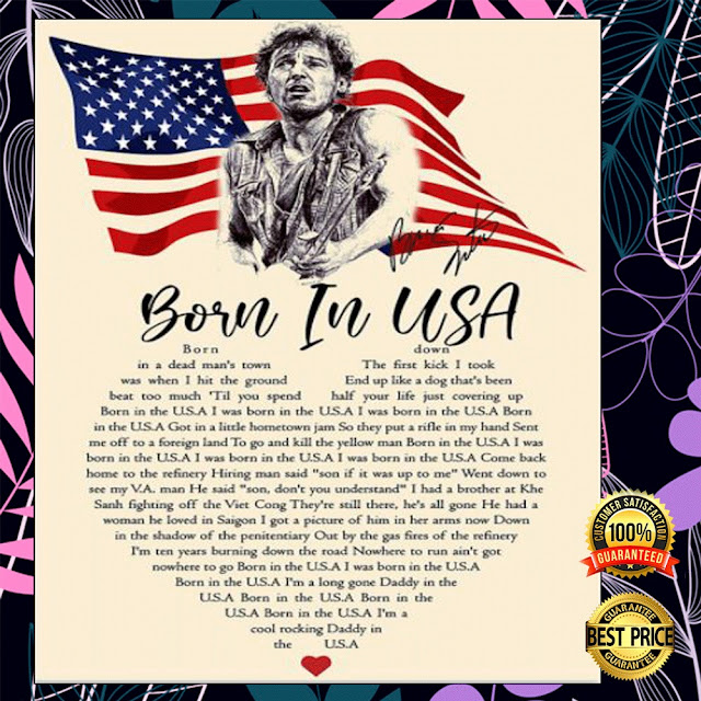 [Sale off] BORN IN USA LYRIC POSTER