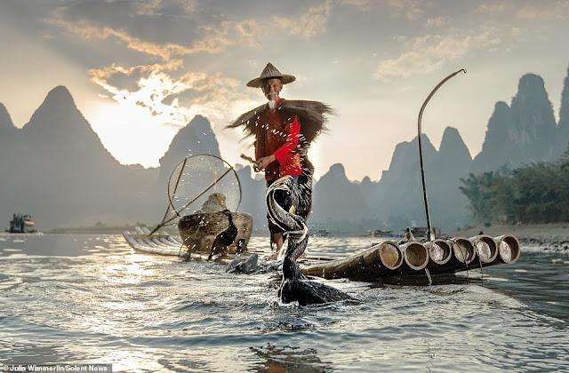 Ảnh đẹp Lão Ngư phủ tại sông Lệ Giang, Trung Quốc 4