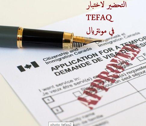 Quelques exemples de questions du test TEFAQ posées
