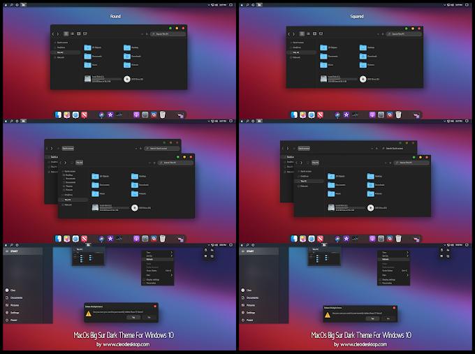 MacOs Big Sur Dark Theme For Windows 10