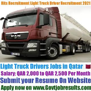 Rits Recruitment Light Truck Driver Recruitment 2021-22