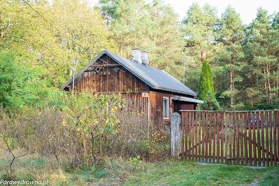 Drewniany dom w przysiółku Pociecha